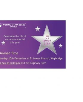 New time for Light Up a Life service in Weybridge
