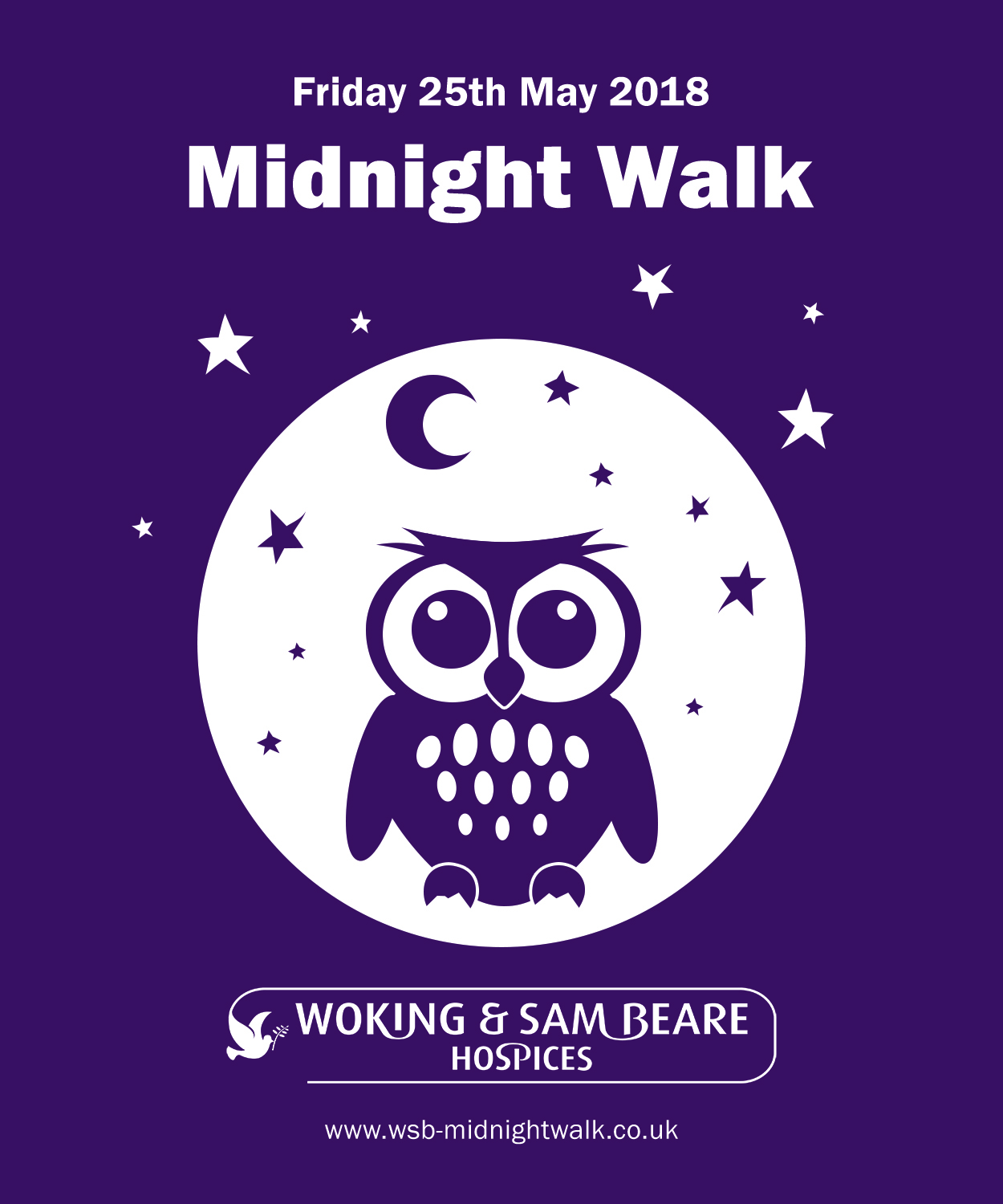 Midnight Walk – £18 early bird offer with glow-in-the-dark t-shirt!