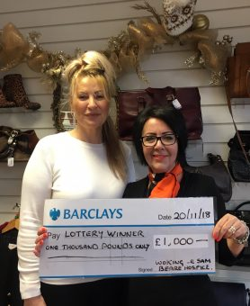 Lottery win for hospice shop volunteer