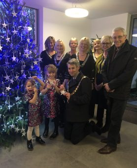 Celebration to switch on the lights of the Hospice Memory Tree