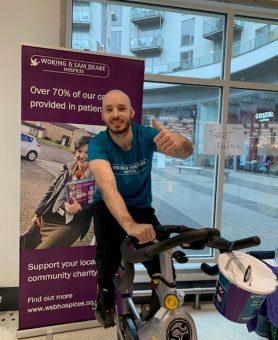 Pedal for Patients event at Fitness Space Chertsey