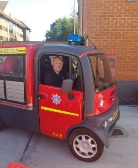 Woking Fire Station support the hospice at their family fun day